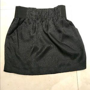 Silk black mini skirt with pockets. Maiya brand